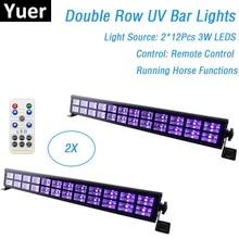 2XLot kolor UV światła typu LED Bar 24X3W Mini efekt oświetlenia scenicznego LED do klubu na imprezę światło dyskotekowe dla boże narodzenie w domu dekoracje świąteczne