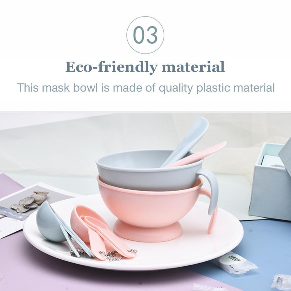 Facemask Mixing Tools Kits Makeup Bowl Set Silicone Bar Gauge DIY Mask Granule Combination Set For Lady Facial Care