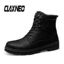 Buy CLAXNEO Mans Winter Boots Plush Fur Genuine Leather Men's Boot High Top Male Snow Shoe Warm Plus Size Walking Footwear directly from merchant!