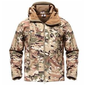 Image 5 - TACVASEN צמר טקטי מעיל גברים עמיד למים מעיל Softshell Windproof ציד מעילי טיולים בגדים חיצוני מחומם מעיל