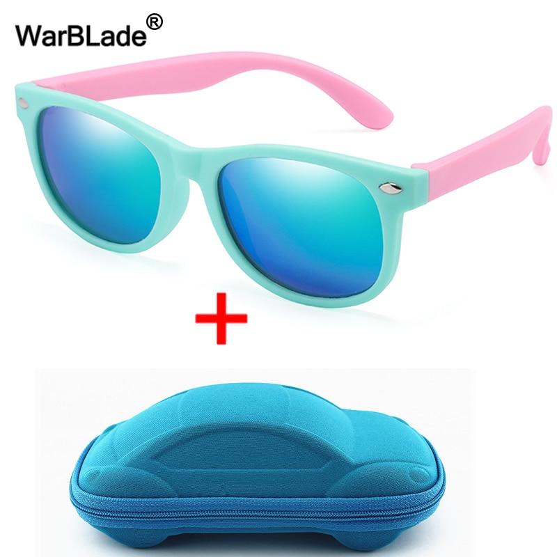 WarBlade New Polarized Kids Sunglasses Children Sun Glasses Silicone Safety Boys Girls Glasses Baby Gift UV400 Eyewear With Boxe