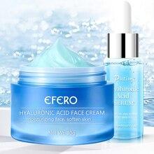 лучшая цена 2pcs/set Anti-Aging Face Cream Snail / Hyaluronic Acid / Green Tea Essence Face Serum Whitening Day Cream Moisturizing Skin Care