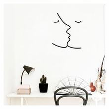 Kiss Pattern Wall Decal Removable Wall Stickers Hallway Living Room Decor Art Suitable for Bedroom and Living Room(China)