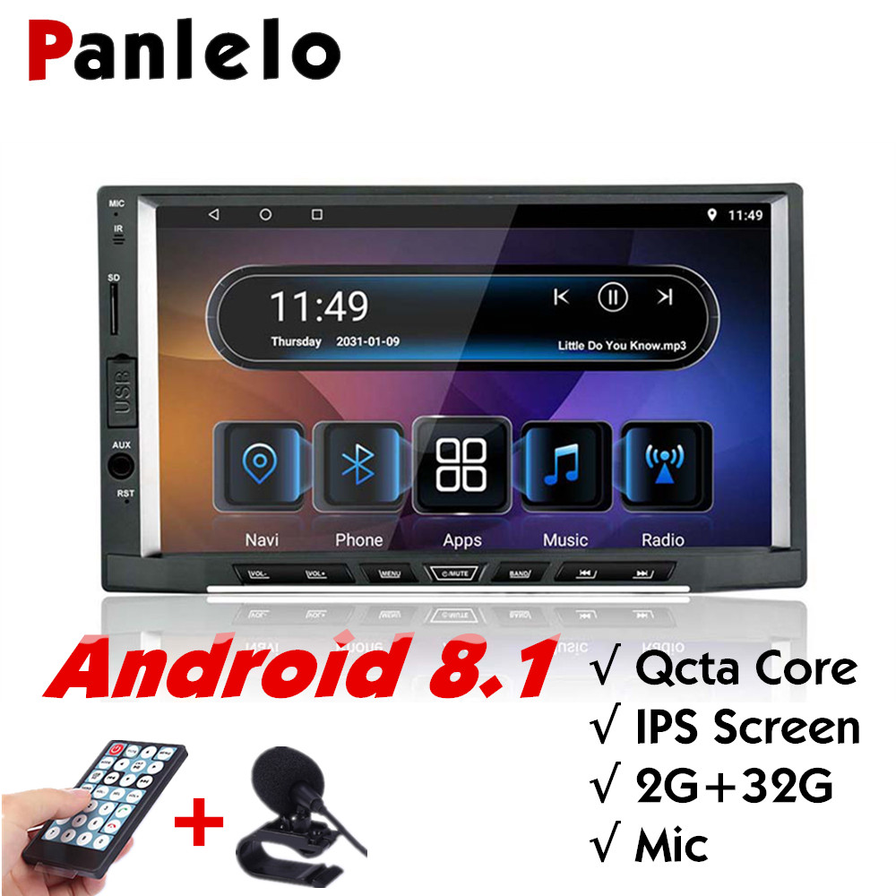 Panlelo S15 2din android 8.1 Qcta core GPS Radio 2GRAM HD IPS Screen 7 inch Car Stereo Touch Navigation For Kia Bluetooth