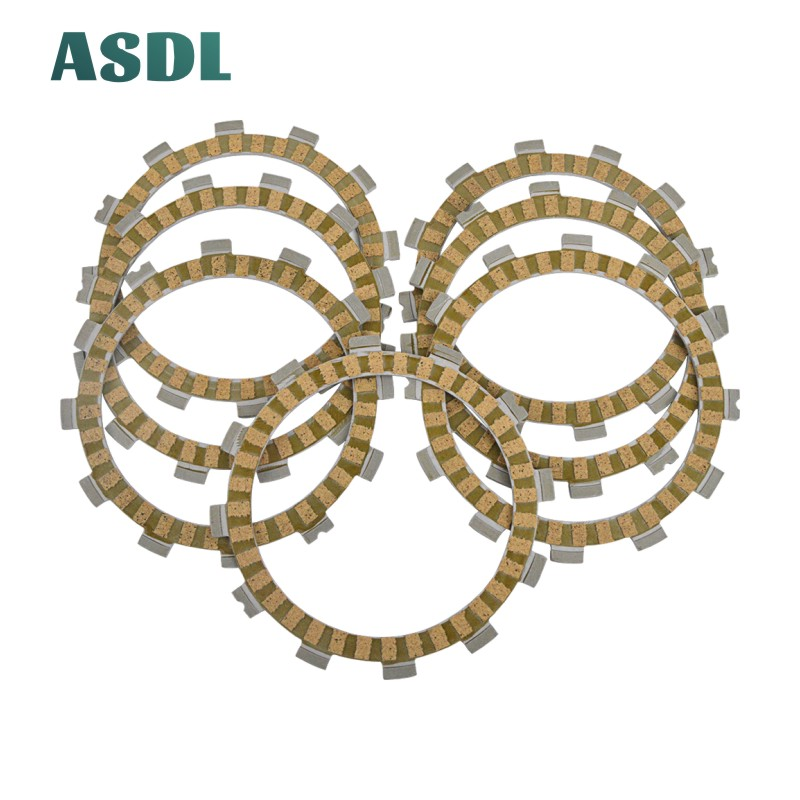 Motorcycle Engine Parts Clutch Friction Plates Kit For Suzuki TS 200 GSX 250 GS25X GSX 250 E,ES RM 125 LT-F250 GSF 400 Bandit #d