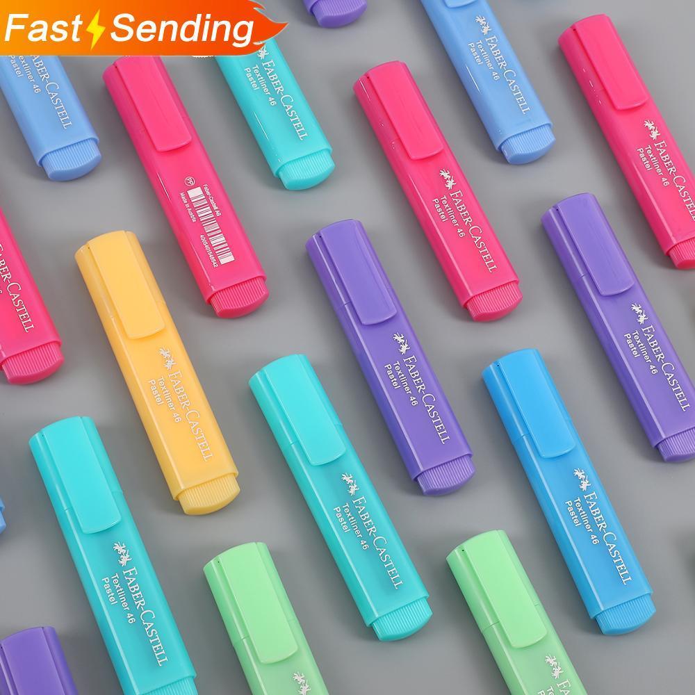 6pcs Or 8pcs/set Faber Castell Cute Highlighter Pen Macaroon Fluorescent Pigment Ink Marker Bullet Joural  Art Supplies