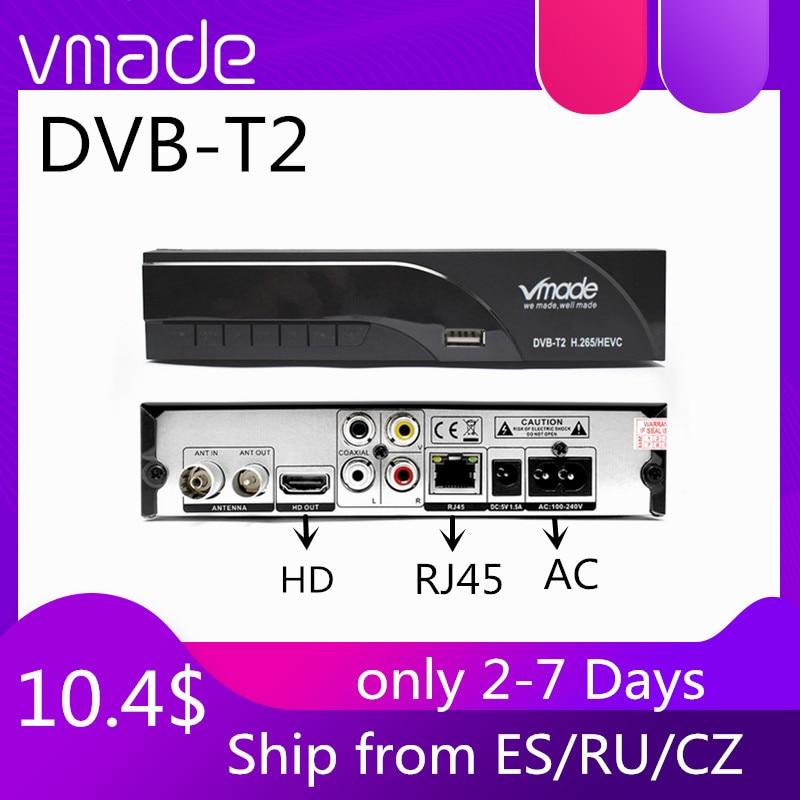 Цифровой наземный декодер Full 1080P HD dvb-T2 поддержка YouTube wifi, Scart/AV с ТВ-приемником RJ45 H.265 HEVC телеприставка
