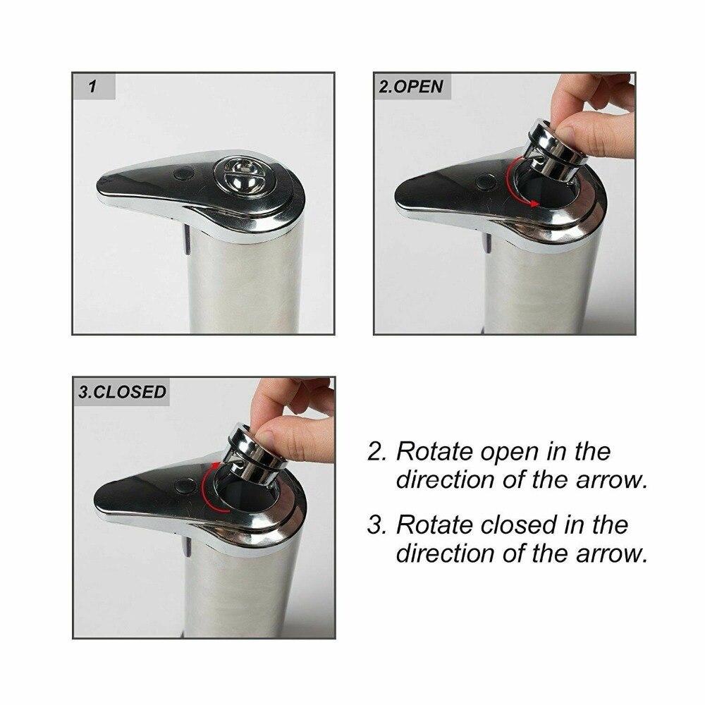 Habd98f59f5264cd5a0ae6df29b8ed94co 250ml Stainless Steel Automatic Soap Dispenser Handsfree Automatic IR Smart Sensor Touchless Soap Liquid Dispenser