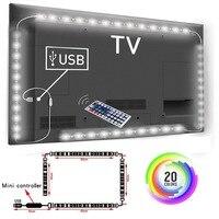 5V 1M/2M/3M Nonwaterproof RGB 5050SMD Led Streifen Kann Farbe Ändern Für TV hintergrund Beleuchtung Mit USB IR Controller