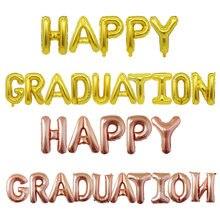 Ensemble de ballons de remise de diplôme, 16 pouces, joyeux, fête de remise de diplôme d'école, Arrangement de décoration de fête en Film d'aluminium, vente en gros