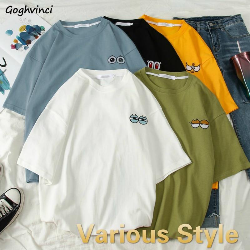 T-shirts Women Summer Printed Unisex Couples Chic Simple Ins Womens Short Sleeve Tees Tshirt Harajuku Daily Streetwear Trendy