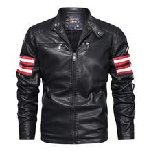 Jacket Motor Coat Stand Streetwear Male Autumn Men's Winter Fashion Slim Collar Outdoor