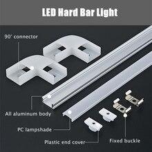2-30шт +% 2F лот 0,5 м светодиод лента алюминий профиль для 5050 3528 5630 жесткий стержень свет корпус с каналом Mikly Clear крышка конец крышка