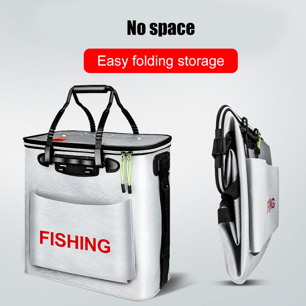 EVA Fishing Bucket Box Folding Live Fishes Storage Container Carrier Portable Breathable With Handle XR-Hot