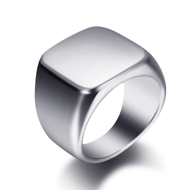 Silver Antique Black Smooth Design Men or Women Ring Fashion Finger Ring  Jewelry WJ001R