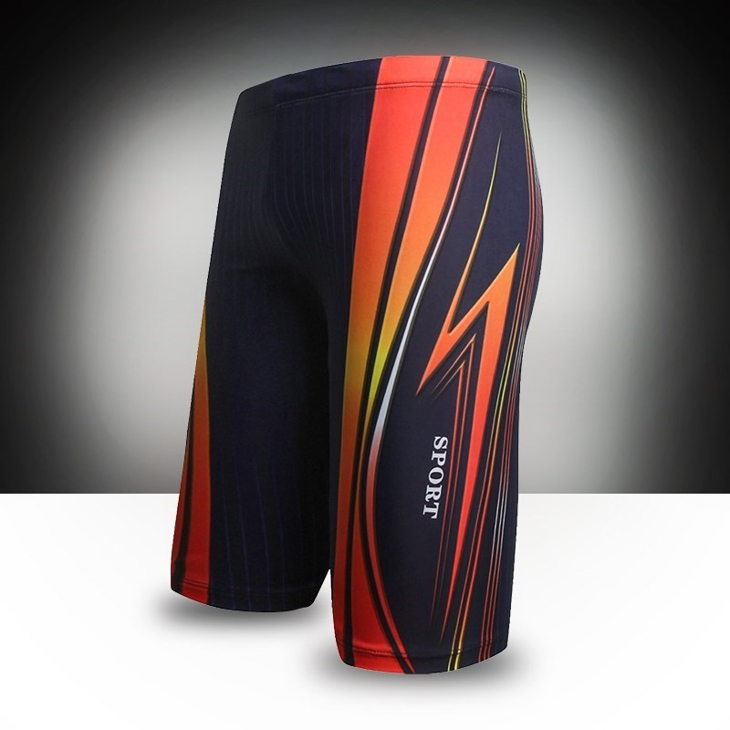 Beach Swimming Trunks Men Short Long Legs Than Cezanne Printed Cool Fashion 5 Points Straight Industry Swimming Trunks