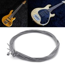1Set Bass Strings Steel Cord for 4 Strings Electric Bass Guitar Parts Accessories Musical Instruments (044-100) shengque factory custom bc rich bass guitar 4 strings brown color electric guitars with black hardwares musical instruments shop