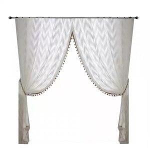 Image 5 - Nowoczesny styl fali tiul na firanki kurtyna czysta biała dekoracja willi transmisja światła zasłony do sypialni salon kuchnia