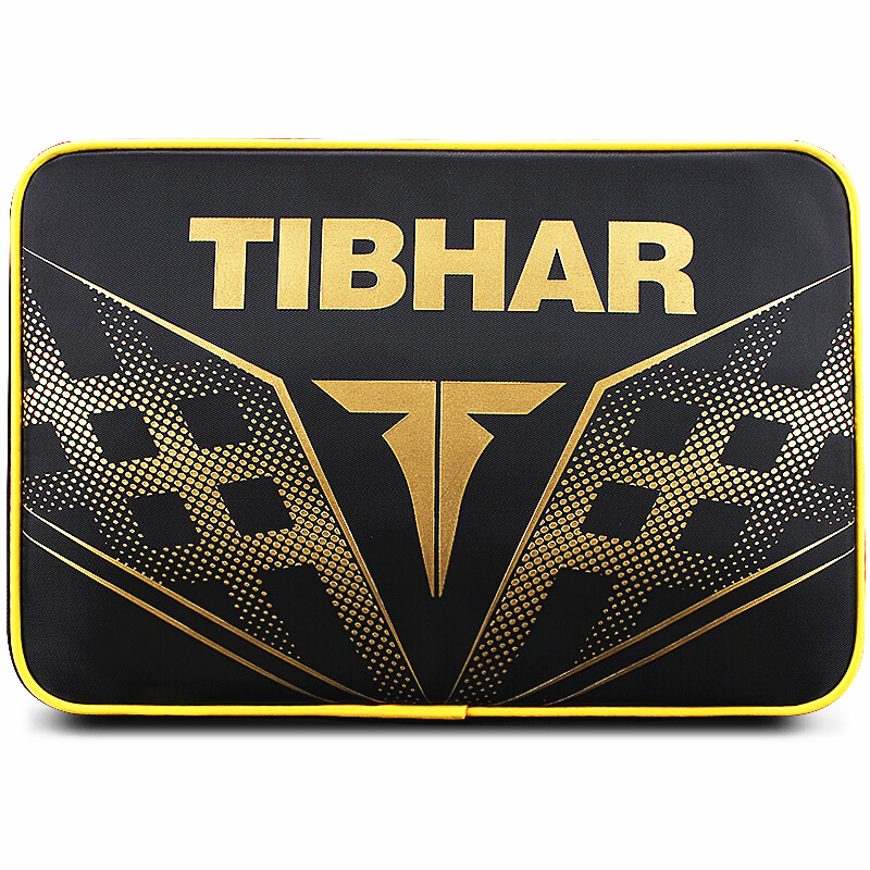 TIBHAR Table Tennis Rackets Bag New Double Layer Square For Training Professional Blade Bat Paddle Ping Pong Case Set