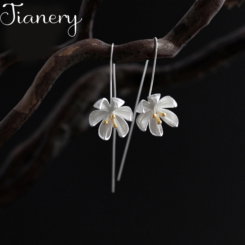 JIANERY New Silver Color Large Lotus <font><b>Flower</b></font> <font><b>Earrings</b></font> <font><b>For</b></font> <font><b>Women</b></font> <font><b>2019</b></font> Fashion Bohemian Jewelry Wholesale image