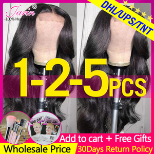 4x4 5x5 6x6 Lace Closure Wigs Remy Body Wave Wig 100% Human Hair Wigs For Women Peruvian Hair Natural Color Jarin 150% Density