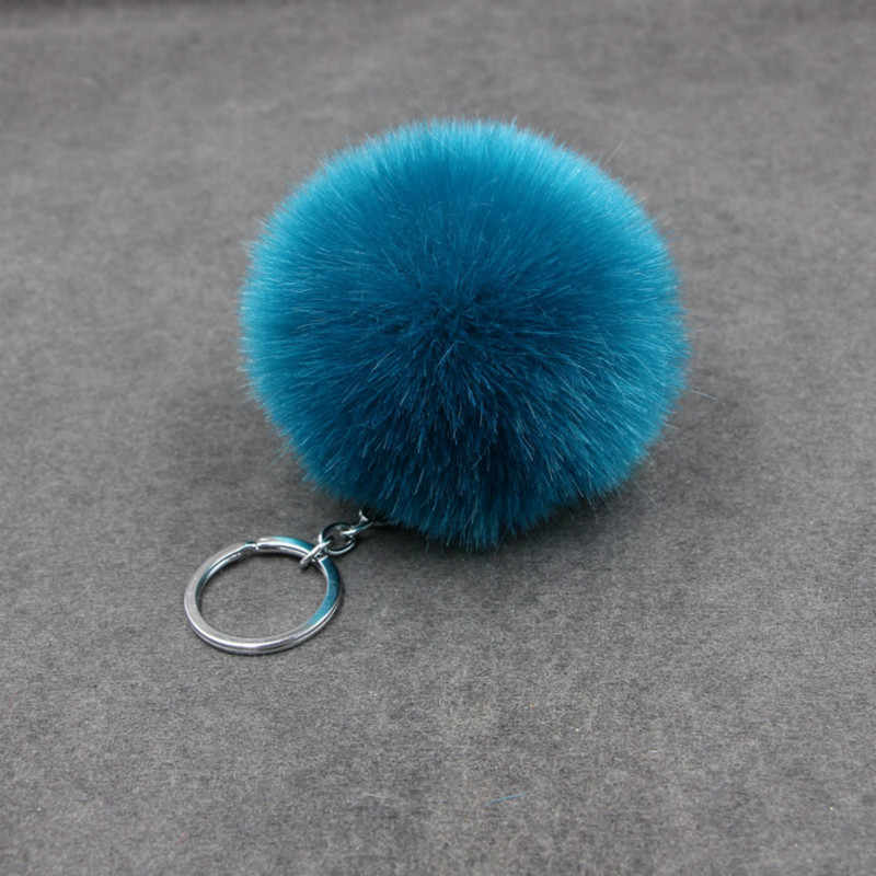 1PCS Blue Plush Key Chain Party Favors Gifts Family Friend Baby Souvenirs Birthday Valentines Day Gift Festive