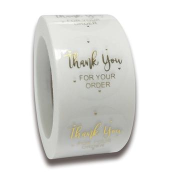 50-500 sztuk okrągłe jasne wesołych świąt naklejki świąteczne karta z podziękowaniami pudełko opakowanie etykieta naklejki uszczelniające ślub naklejka dekoracyjna tanie i dobre opinie CN (pochodzenie) paper QY670 Envelope Seals bakery Crafts Wedding Sticker