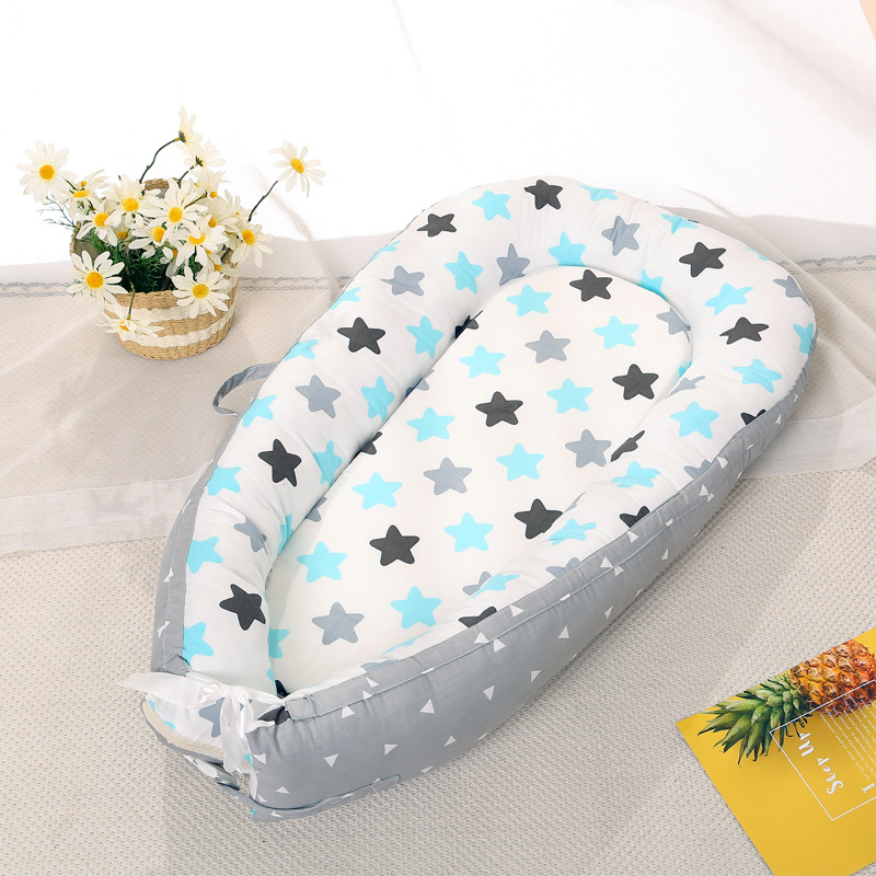 100% Cotton Newborn Baby Bed Portable Crib Travel Bed Infant Toddler Cradle Baby Bumper Bed Bassinet Sleep Nest