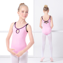 Toddler Girls Kids Child Ballet Double Straps Gymnastics Leotards Lycra Cotton Dance Wear Bodysuit Swimsuit For