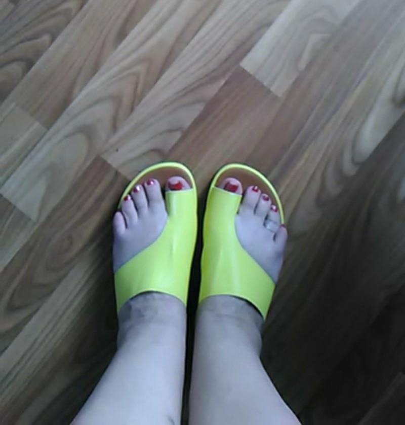 Habda9656c9384c648679724546b5b82fb Puimentiua Women slippers Flat Sole Casual Soft Big Toe Foot Sandal Women Shoes Comfy Platform Orthopedic Bunion Corrector