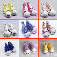 1 Pair 5cm Doll Shoes Fashion Canvas Shoes for 1/6 BJD Dolls DIY Russian Handmade Mini Toy Shoes Doll Accessories 1pair 2pcs 3 5cm fashion plastic doll shoescsuit for blythe licca jb bjd dolls accessory toy parts