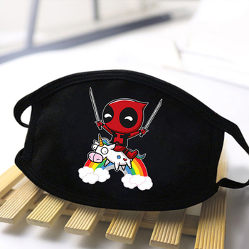 цена Marvel Deadpool Print Masks Washable Half Face Mouth Muffle for Man Women High Quality Anti-dust Reusable Streetwear Mouth Mask онлайн в 2017 году
