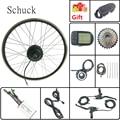 Schuck электрический велосипед комплект 48V350W заднее колесо комплект для переоборудования электрического велосипеда с дисплеем LCD5 16-28 дюймов ...