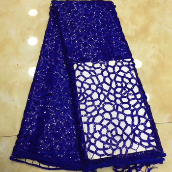African Lace Fabric 2020 High Quality French Tulle Lace Fabric Embroidery Sequins Mesh Nigerian Lace Fabric For Wedding LH9007