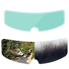 Película de parche antiniebla transparente para casco, lentes para casco de motocicleta, película antiniebla a prueba de lluvia para K3 K4 AX8 LS2 HJC MT Etc