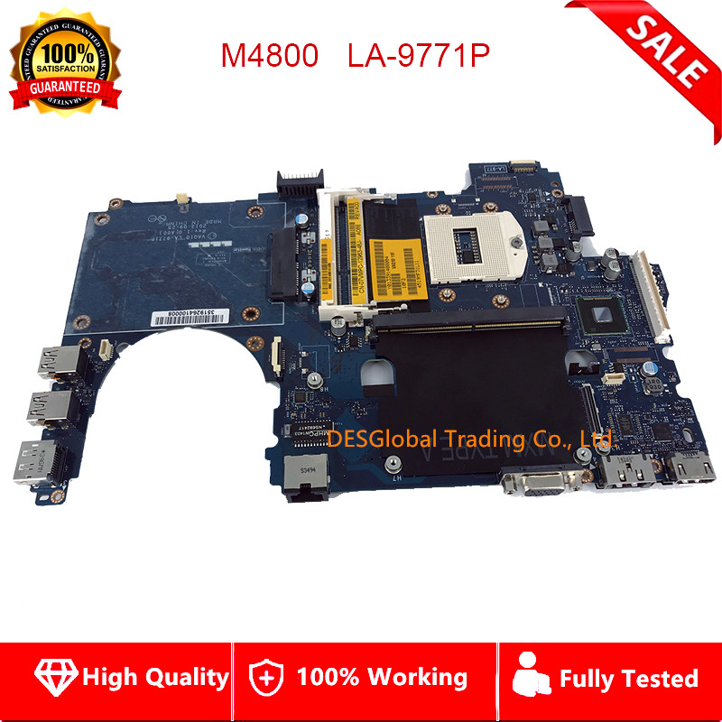 CN-07VMPC 07VMPC 7VMPC M4800 Mainboard DDR3 HM86 VAQ1 LA-9771P For DELL Precision M4800 Laptop Motherboard Fully Tested
