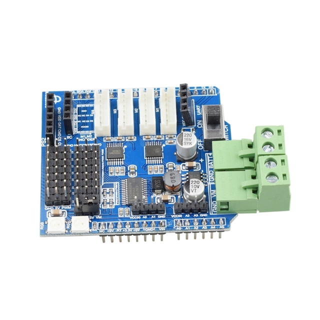 4 Channel Motor Driver Board Compatible with Arduino for Smart Mecanum Wheel Robot Car Chassis