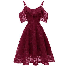 Women's Full Dress Lace Floral Design Solid Color Chic Elegant Slip Dress floral embroidered lace panel slip dress