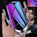 Automatische Spann QI Drahtlose Auto Ladegerät Montieren Infrarot Sensor Schnelle Lade Halter Für iPhone 8 X XR XS 11 Samsung s10 S9 S8
