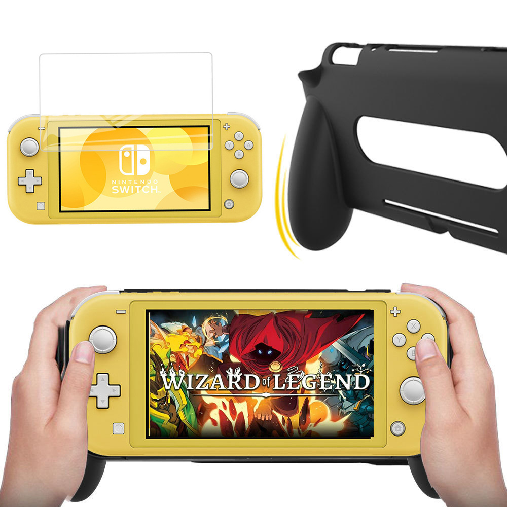 Nintend Switch Lite Mini Console Hand Grip Protection Case With Tempered screen Protector for Nintendo Switch Lite Accessories