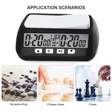 Profissional xadrez relógios digital xadrez competição contagem para baixo xadrez jogos cronômetro temporizador