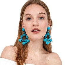 European and American popular fresh multicolor m bead windingpearl fashion earrings
