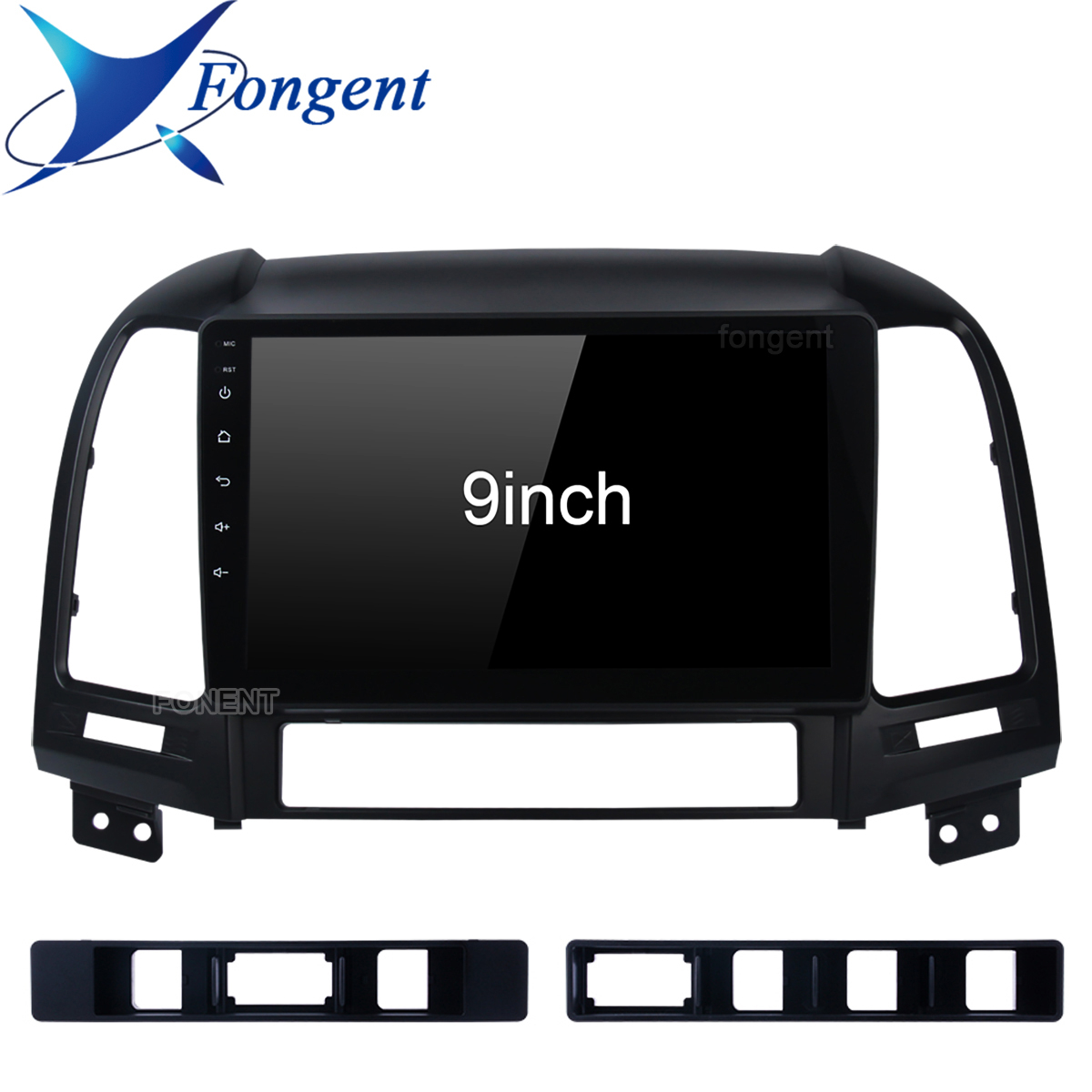 Fongent Android 8.1 2G+32G Car Radio Multimedia Stereo Audio Player Navi <font><b>GPS</b></font> 2 Din For <font><b>Hyundai</b></font> <font><b>Santa</b></font> <font><b>Fe</b></font> 2 2006-2012 Head Unit image