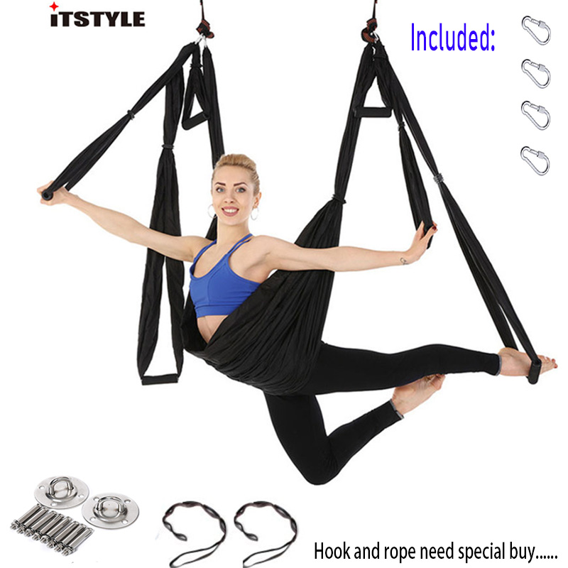 ITSTYLE Anti-gravity Yoga Hammock Swing Parachute Fabric Inversion Therapy Yoga Gym Hanging High Strength Decompression Hammock