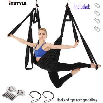ITSTYLE נגד הכבידה יוגה ערסל נדנדה מצנח בד טיפול היפוך יוגה כושר תליית חוזק גבוהה לחץ ערסל