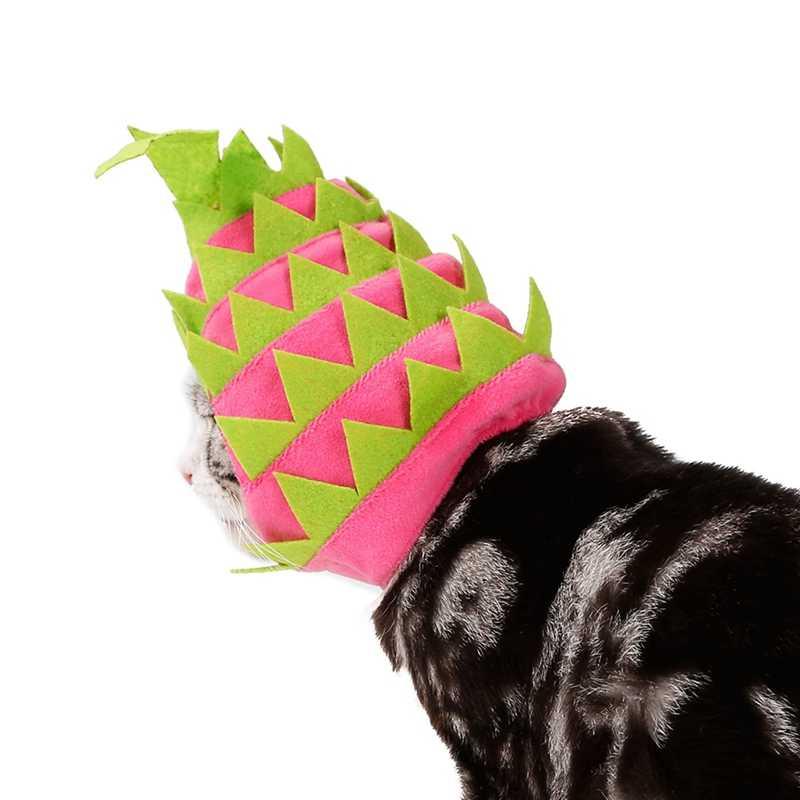 Головной убор для питомца щенок собака кошка платье с фруктовым принтом шляпа праздничная одежда аксессуары для собак для маленьких собак головной убор для дня рождения костюм