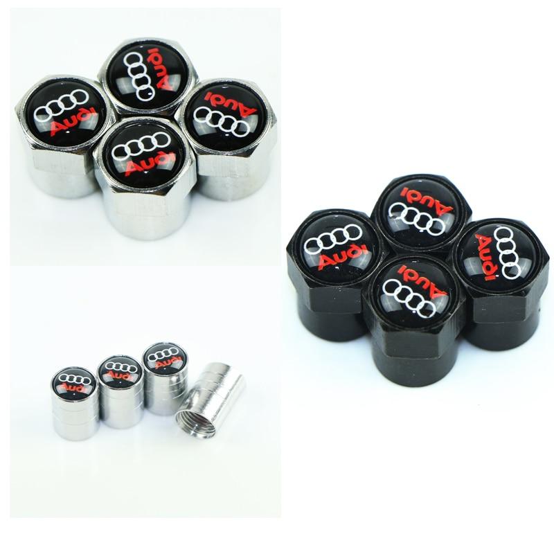 4pcs Car Tire Wheel Valve Stem Caps Protection Cover For Audi A3 A4 A5 A6 A7 A8 B5 B6 B7 B8 C6 C7 C8 8v 8p Car Accessories