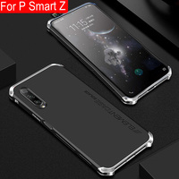 Metal Frame Phone Case For Huawei P Smart Z Thin Hard Aluminium Hybrid PC Shell For Huawei P Smart Z Cases PSmart Z