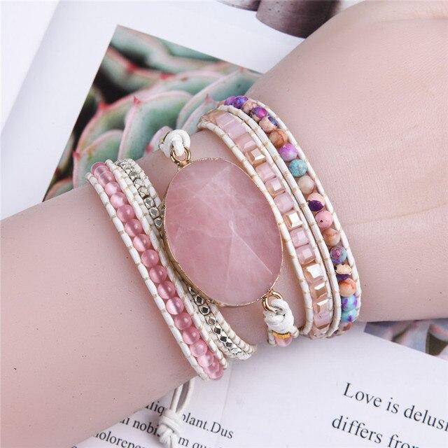 Unique punk women wrap bracelets n