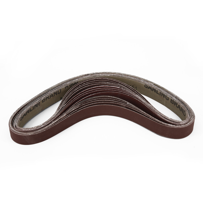 Sanding Belts High Performance 25mmx762mm Polishing Aluminum Oxide Durable Newly